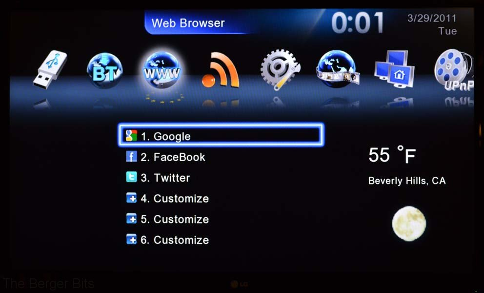 Web browser bookmarks