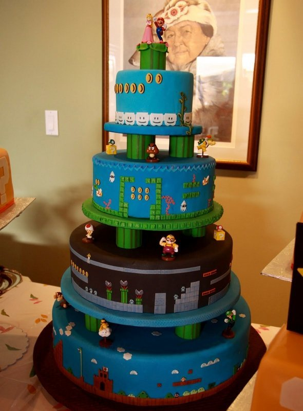 The Ultimate Mario Wedding Cake The Berger Bits